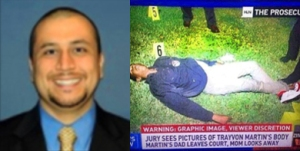 GEORGE ZIMMERMAN - TRAYVON MARTIN_Side-by-Side