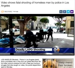 LAPD Shooting Skid Row