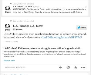 LAPD Shooting Skid Row_Tweet 01